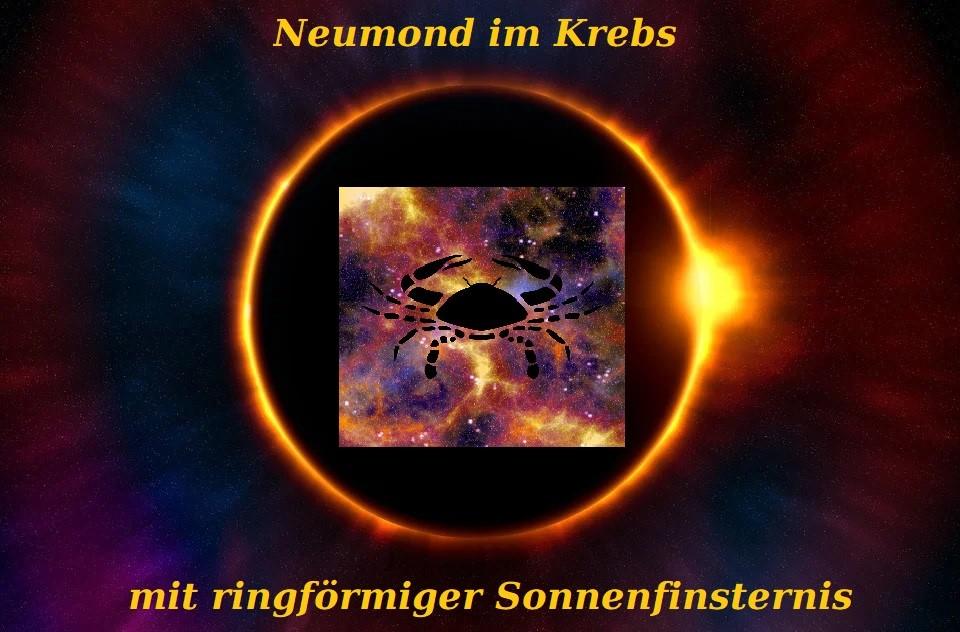 Neumond im Krebs mit ringförmiger Sonnenfinsternis