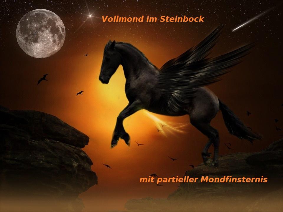 Vollmond im Steinbock mit partieller Mondfinsternis