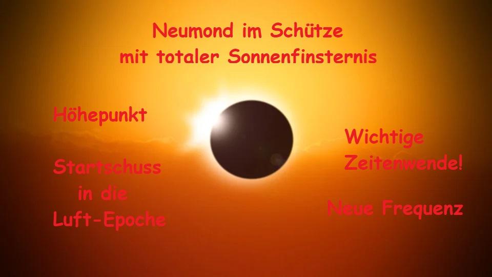 Neumond im Schütze mit totaler Sonnenfinsternis