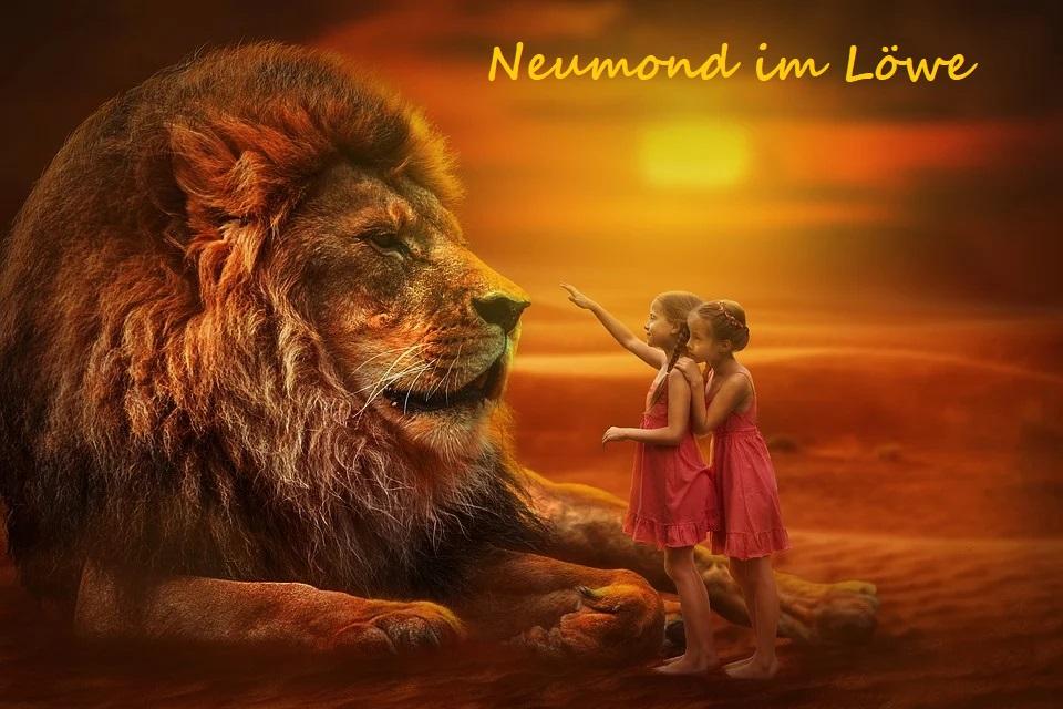 Neumond im Löwe